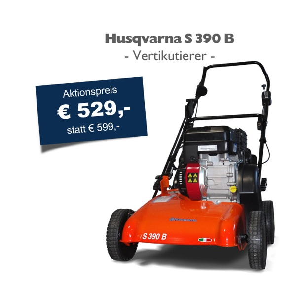 husqvarna s 390 b vertikutierer aktionspreis benzinmotor ebay. Black Bedroom Furniture Sets. Home Design Ideas