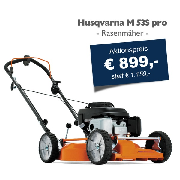husqvarna m 53s pro rasenm her mulchm her 53cm schnittbreite hammerpreis ebay. Black Bedroom Furniture Sets. Home Design Ideas